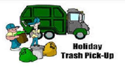 holiday trash pickup