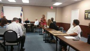 SSHS Salutatorian Sydney Dietz at the SSISD Board Meeting