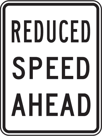 reduce-speed-ahead-sign