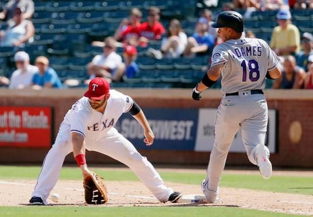 639Rockies Rangers Baseball