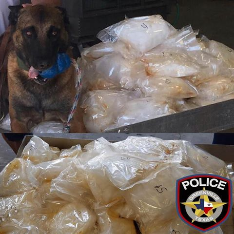 Meth Seized In I-30 Traffic Stop Greenville PD PHoto