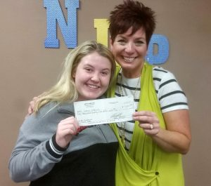 NLHS FOR Club Donation to Lance Johnson
