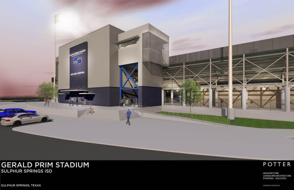 ARtist Depiction Of New Gerald Prim Stadium at SSHS currently under construction