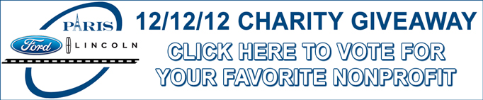 Paris Ford Lincoln 12-12-12 Charity Giveaway 2018