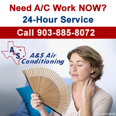 A&S Air Conditioning Top Sidebar 24-Hour Service