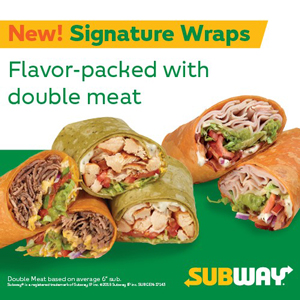 Subway New Signature Wraps