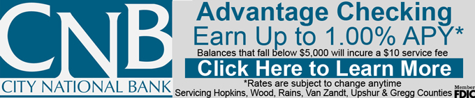 City National Bank – Advantage Checking Header