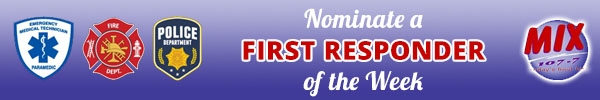 purple banner to nominate a first responder of the week